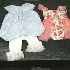 Lot of 3 Little Lass Baby Outfit 6-9 Mo